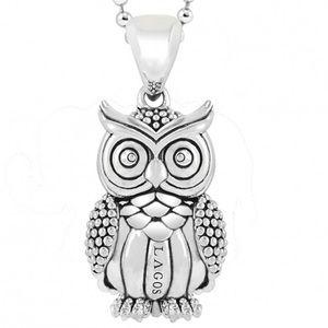 LAGO RARE WONDERS Owl Pendant